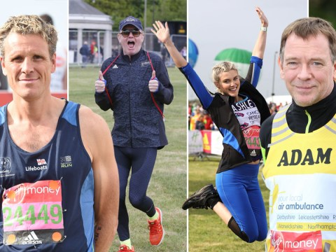 Adam Woodyatt, Chris Evans, Ashley James and Corrie star Chris Harper run the London Marathon 2017
