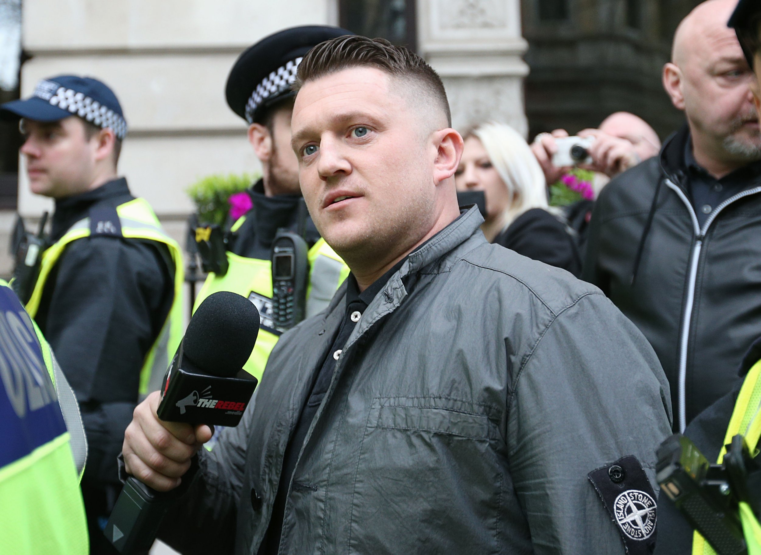 Former EDL leader Tommy Robinson arrested 'for breaking court rules'