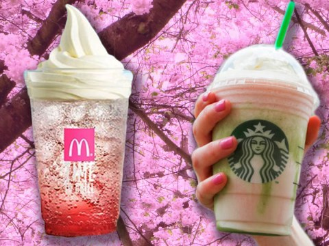 We need this McDonald's cherry blossom float in our life