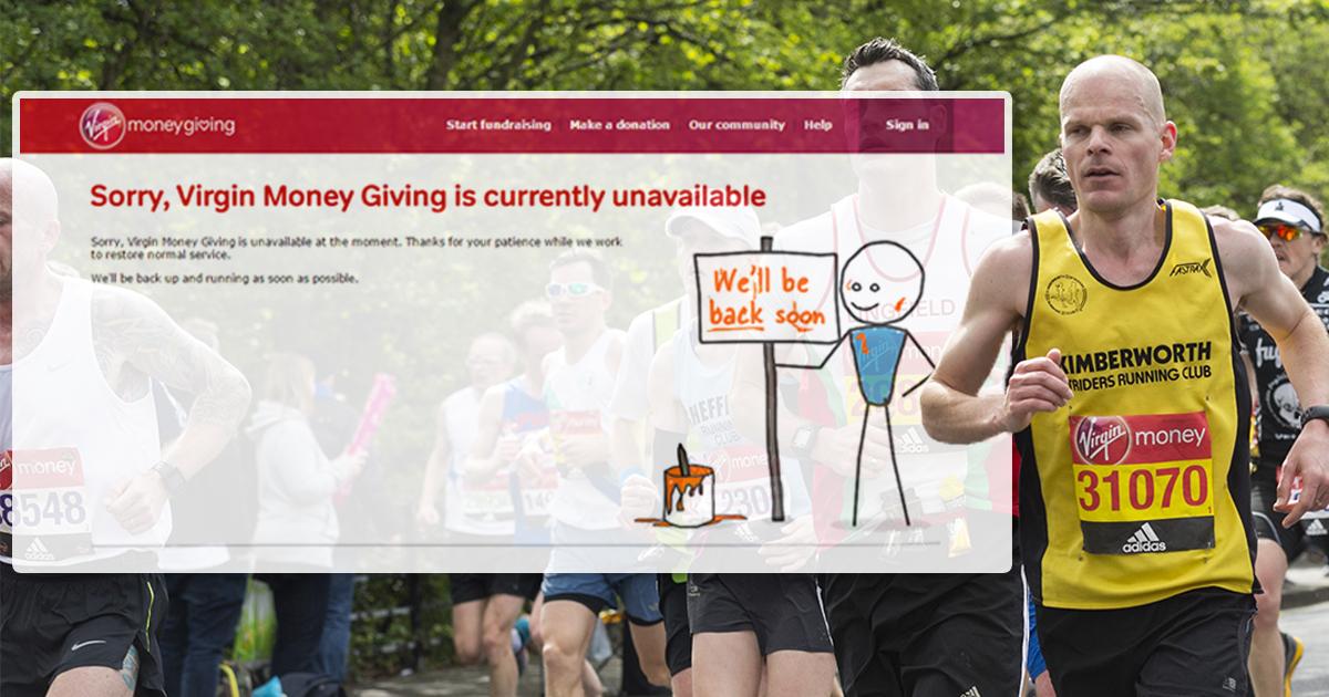 Virgin's online donation website crashes the night before London Marathon