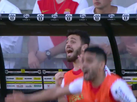 Chelsea and Manchester United target Bernardo Silva upstages his manager by shouting instructions from bench