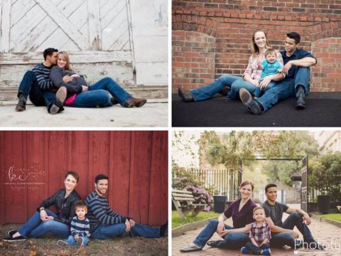 Couple refuse to let their divorce stand in the way of their annual family photo