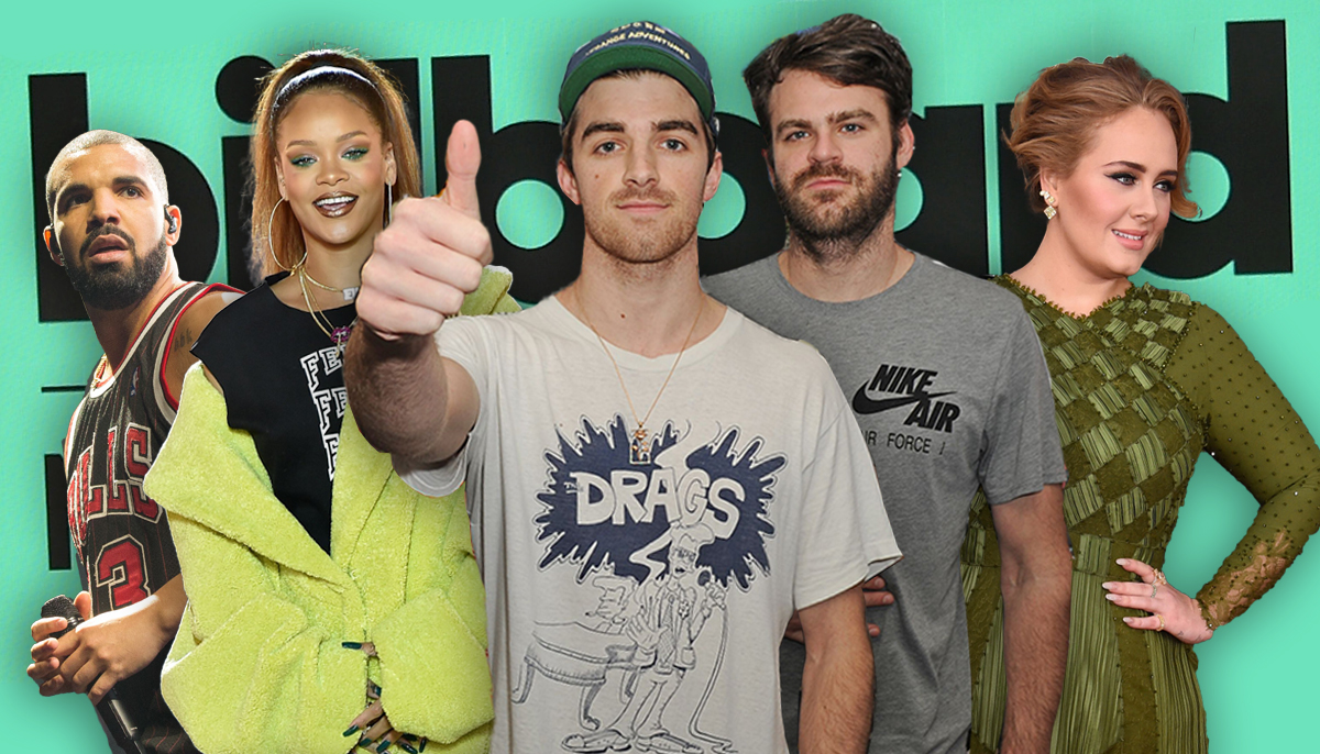 The Chainsmokers and Drake lead the 2017 Billboard nominations
