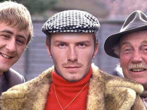 Meet David Peckham! David Beckham shares mock up of star as Del Boy