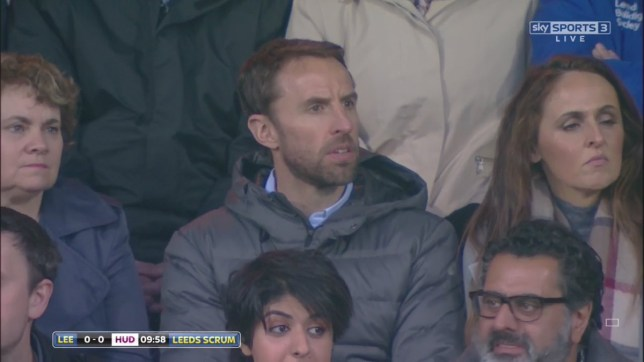 Southgate soaking up the atmosphere at Headingley (Picture: Sky Sports)