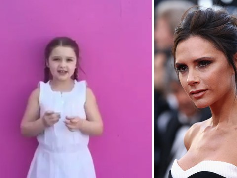 Harper Beckham singing happy birthday to Victoria Beckham will give you a toothache