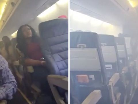Plane passengers scream and pray as aircraft fills with smoke