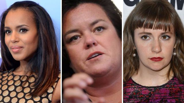 'Heart breaking': Kerry Washington and Rosie O'Donnell among celebs shocked by Donald Trump's strike on Syria