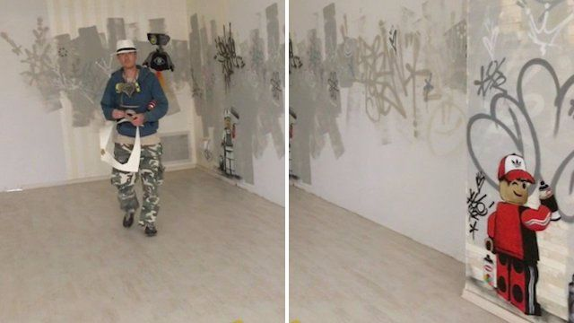 Graffiti artist thought to be Banksy turns out to be someone completely different