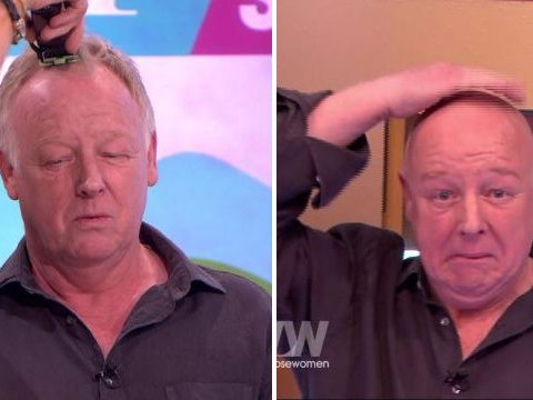 Les Dennis had his head shaved like an Easter egg live on Loose Women