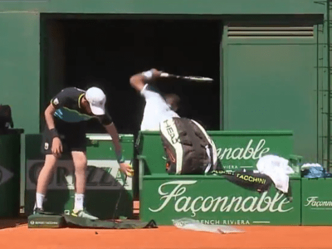 Martin Klizan smashes umbrella with rage in first-round Monte-Carlo Masters exit