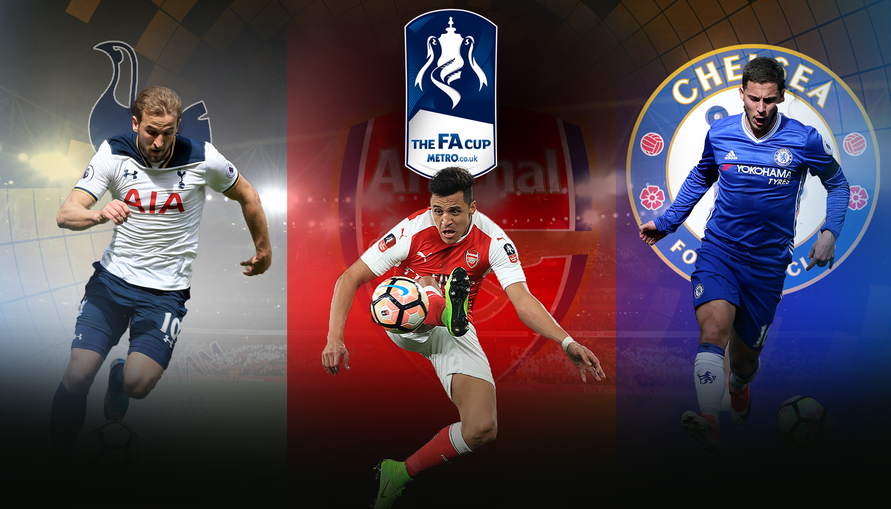 Chelsea, Arsenal, Tottenham and Man City combined XI: Alexis Sanchez and Eden Hazard lead FA Cup semi-final all-star side
