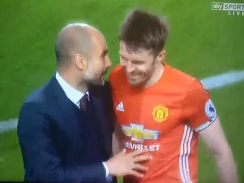 Michael Carrick reveals what Pep Guardiola told him at the final whistle