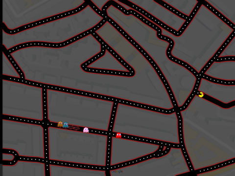 How to remove Ms Pac-Man from Google Maps