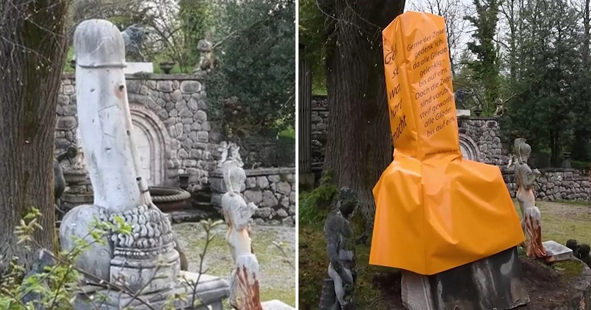 Man agrees to cover giant 6ft penis with orange condom for Easter