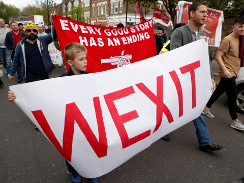 10 banners from the anti-Arsene Wenger protest before Arsenal v Manchester City