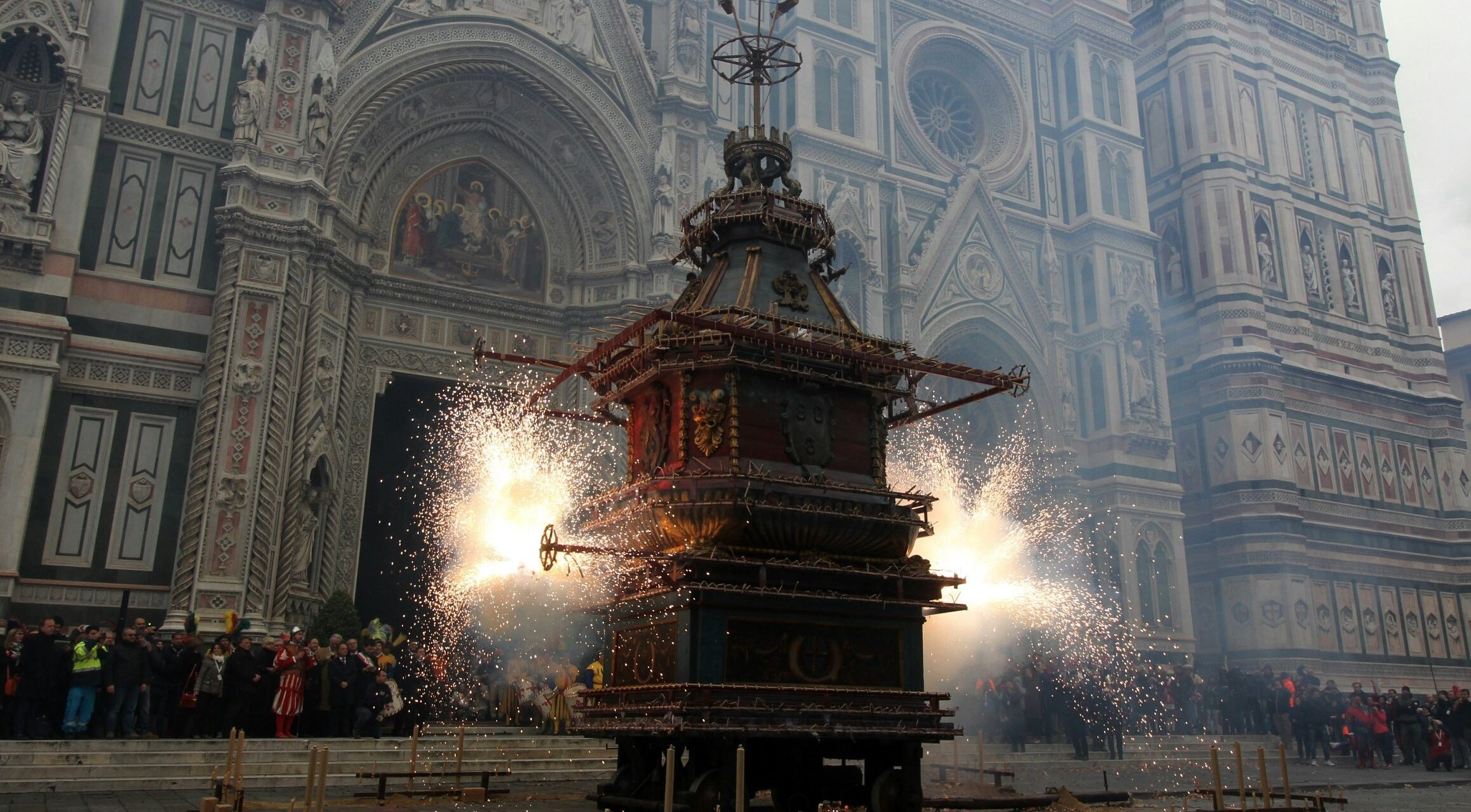Firework Display At Scoppio Del Carro florence, italy (Picture: Getty)