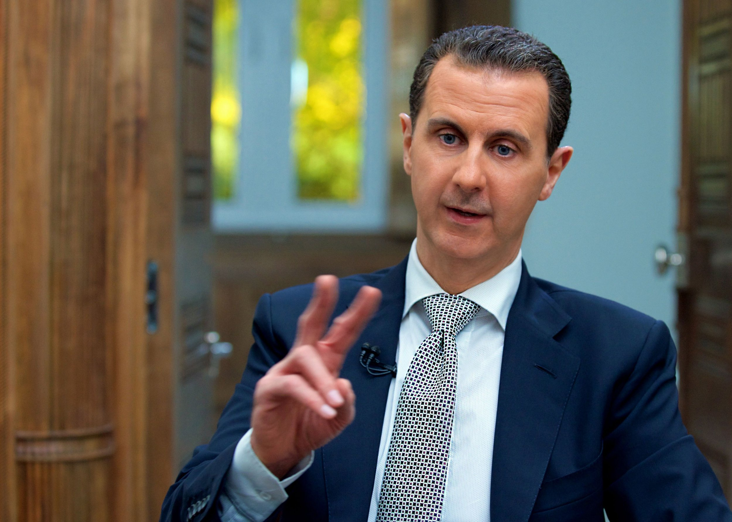 Assad claims chemical attack was '100% fabricated'
