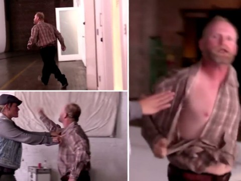 Sugar Bear angrily tears his shirt open in explosive Mama June fight