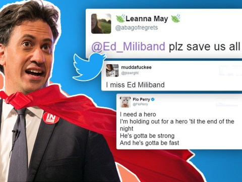 People are begging for Ed Miliband to come back and 'save us'