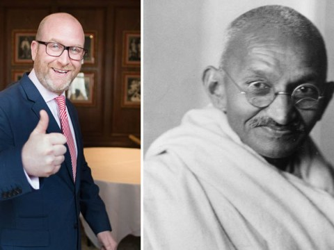 Paul Nuttall compares himself to Gandhi