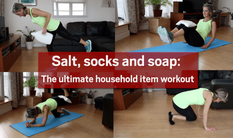 Salt, socks and soap: The ultimate household item workout