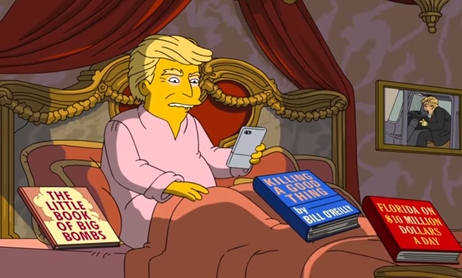 The Simpsons have been savage about Donald Trump's first 100 days