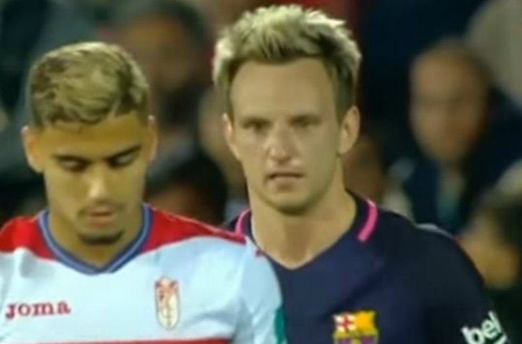 Barcelona star Ivan Rakitic caught ripping into Manchester United loanee Andreas Pereira