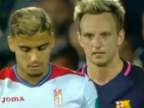 Barcelona star Ivan Rakitic caught ripping into Manchester United loanee Andreas Pereira