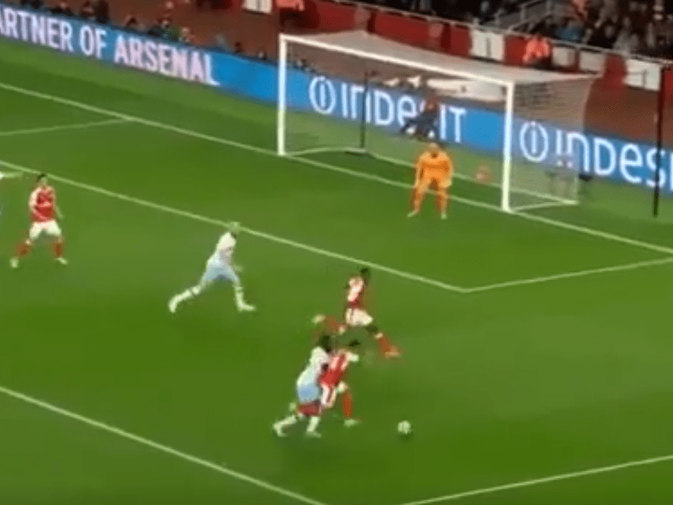 Picture PROVES Theo Walcott was robbed of blatant penalty for Arsenal v West Ham
