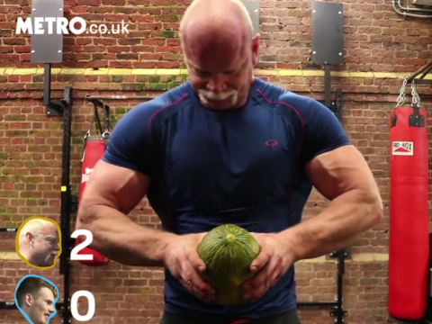 Can former world's strongest man Magnus Samuelsson crush a watermelon?