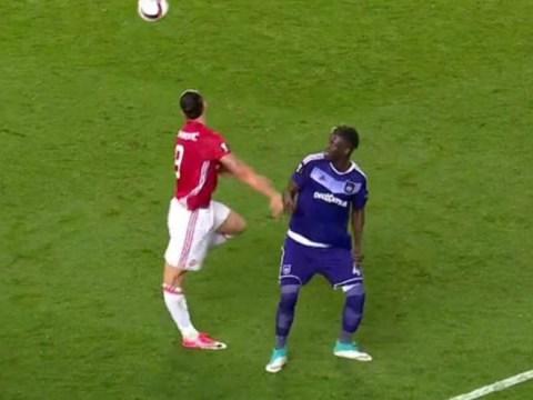 Zlatan Ibrahimovic suffers horror injury against Anderlecht as knee bends wrong way