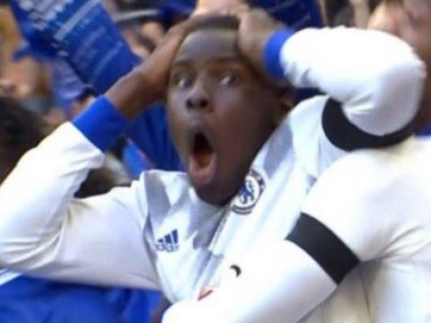 Kurt Zouma's reaction to Nemanja Matic's stunning strike is epic