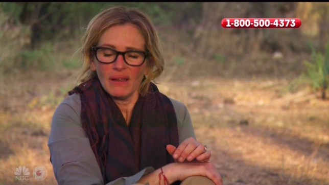 Julia Roberts Eats Goats Head In Bear Grylls Red Nose Day