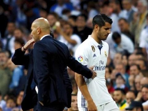 Zinedine Zidane explains Chelsea transfer target Alvaro Morata's strop