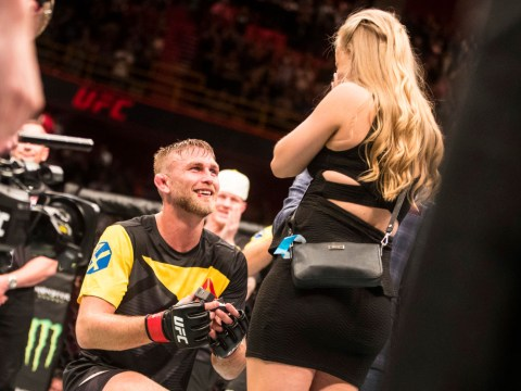 Alexander Gustafsson pops the question to his girlfriend directly after faultless UFC Stockholm display