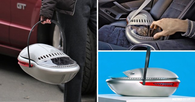 This space-themed cat carrier may look snazzy, but it's