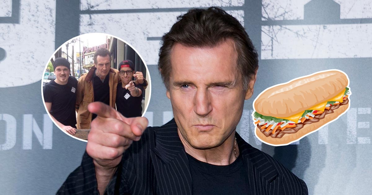 'Holy f**k, it worked!' Canadian sandwich shop bags a visit from Liam Neeson…by offering free food to Liam Neeson