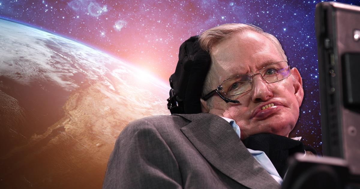 Stephen Hawking has a sensor attached to his glasses which detects small cheek movements. Each movement moves a cursor and enables him to choose letters and then, with predictive text technology, words and sentences (Picture: Getty; Shutterstock)