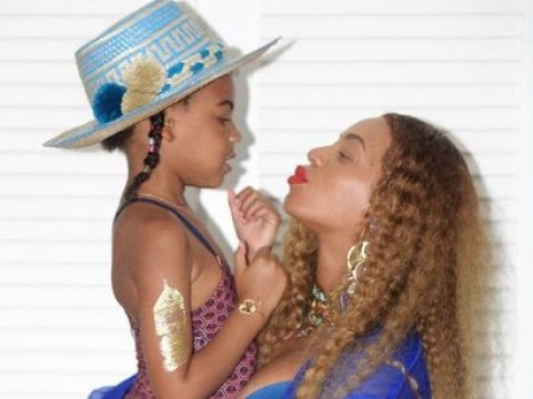 Blue Ivy is a 'proud and excited' big sister according to Beyonce's mum Tina Knowles