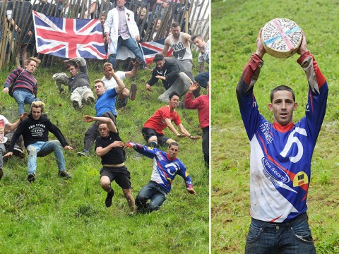 Chris Anderson becomes cheese champion after winning this year's Cheese Rolling