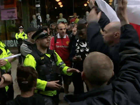 Mancunians show real Manchester spirit as they shout down EDL protesters