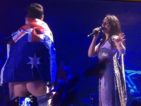 Streaker flashes bare bum and completely takes over Jamala's Eurovision performance