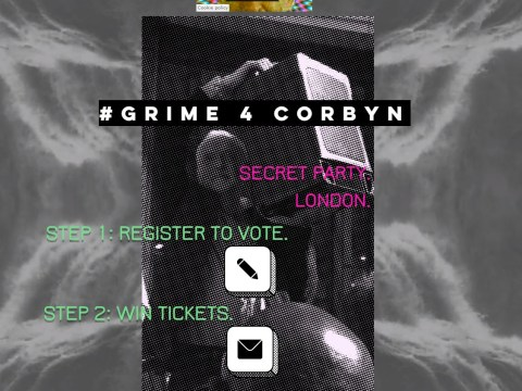 #Grime4Corbyn campaign offers fans the chance to attend secret rave if they vote for Labour