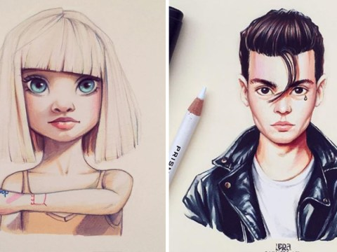 This artist creates stunning illustrations of famous people