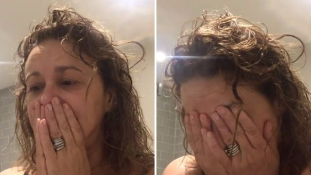 'I feel sad and old': Loose Women star Nadia Sawalha cries as she reveals she is going bald