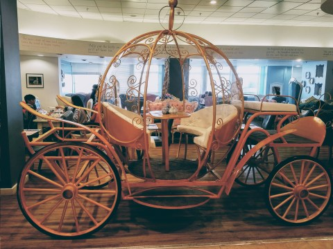 You can now have afternoon tea in a Cinderella carriage