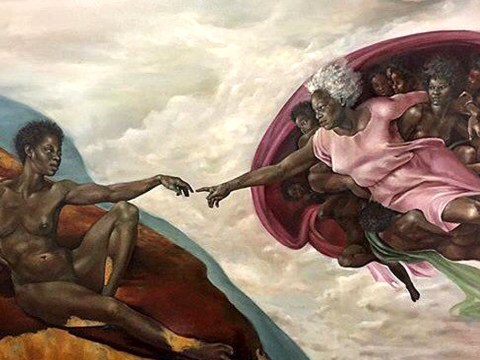 Artist who painted God as a black woman gets abuse