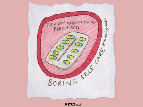 Illustrations celebrate the boring but important victories in self-care
