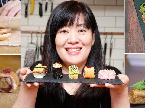 Stop what you're doing and look at this sushi made steak bakes and sausage rolls